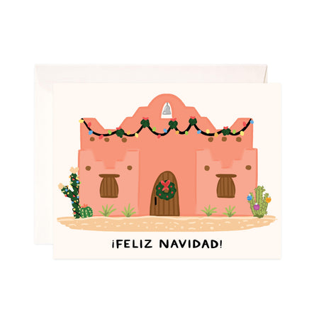 Adobo Christmas + Holiday - Bloomwolf Studio Card That Says Feliz Navidad, Neutral and Bright Colors, Home, Outdoor Christmas + Holiday Decors