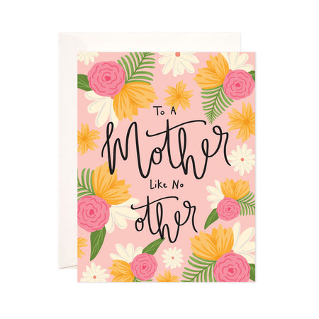 Mother Like No Other - Bloomwolf Studio Mother's Day Card, Pink, Yellow and White Flowers