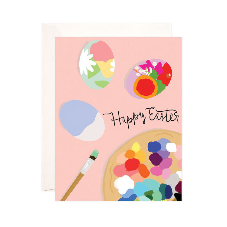 Easter Eggs - Bloomwolf Studio Easter Print, Pastel and Bright Colors, Paints, Palette, Brush, Easter Eggs