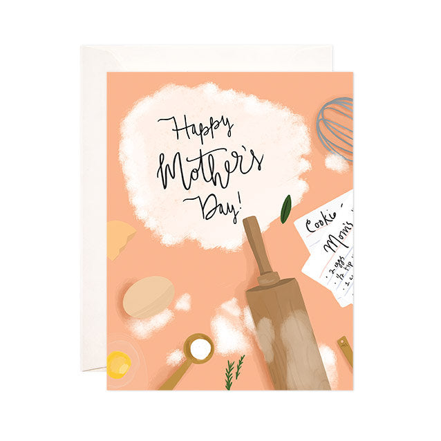 Happy Mother's Day - Bloomwolf Studio Mother's Day Card, Neutral Colors, Baking Utensils