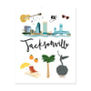 City Art Prints - Jacksonville - Bloomwolf Studio Print About What to Do in Jacksonville, Neutral, Bright Colors, City Landmarks + Historical Places + Notable Places, Beach, Cities