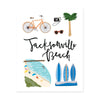 City Art Prints - Jacksonville Beach