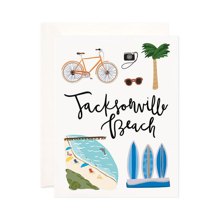Jacksonville Beach - Bloomwolf Studio Print About Jacksonville Beach, Things to Do, Bright Colors, State Landmarks + Historical Places + Notable Places