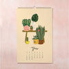 SLIGHTLY IMPERFECT 2020 Plants Wall Calendar - Bloomwolf Studio