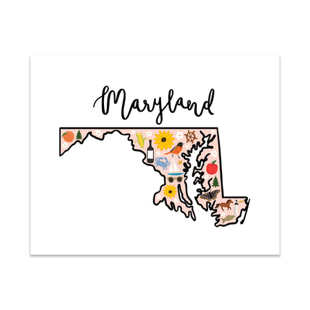 State Art Prints - Maryland
