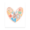 Medical Love Art Print
