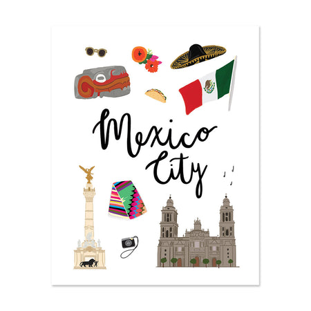 City Art Prints - Mexico City - Bloomwolf Studio Print About What to Do in Mexico City, Neutral, Bright Colors, Landmarks + Historical Places + Notable Places