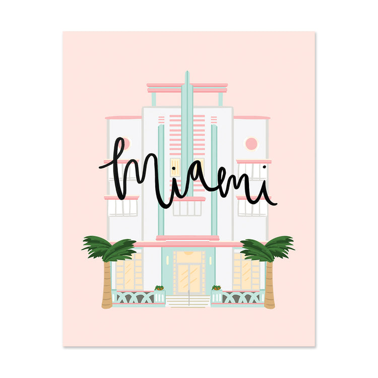 City Art Prints - Miami Art Deco - Bloomwolf Studio