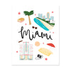 City Art Prints - Miami - Bloomwolf Studio