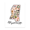 State Art Prints - Mississippi
