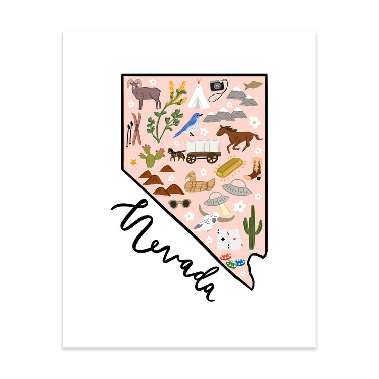State Art Prints - Nevada