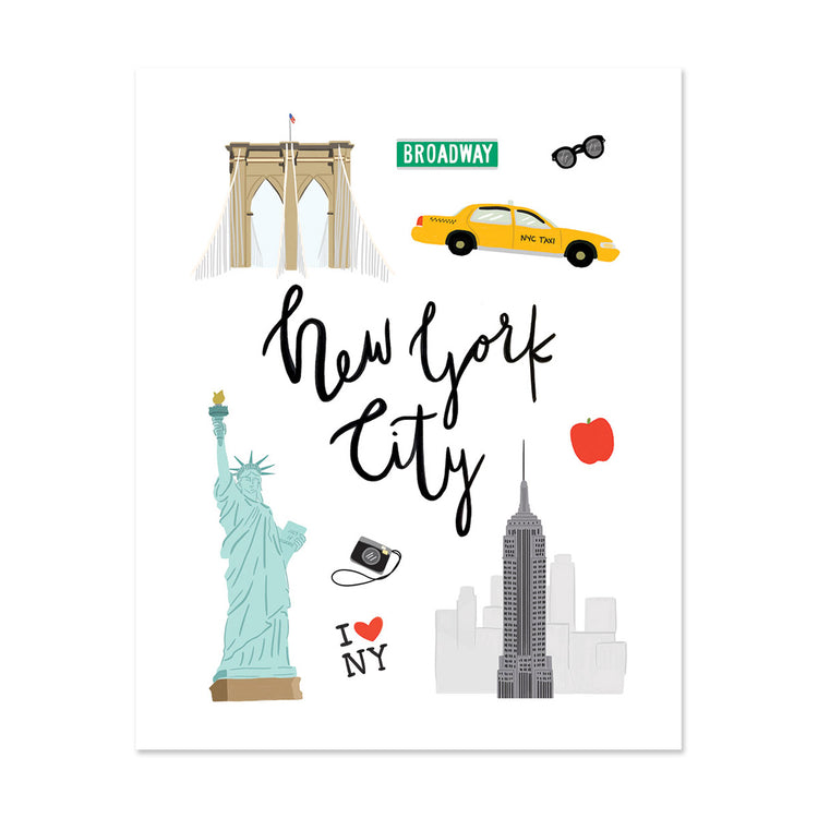 City Art Prints - New York City - Bloomwolf Studio Print About New York, Warm, Neutral Colors, Things to Do, Landmarks + Historical Places + Notable Places