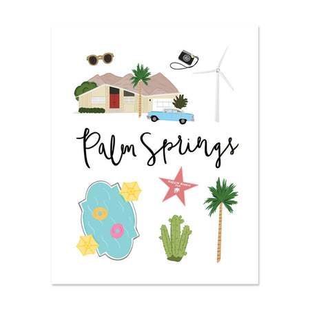 City Art Prints - Palm Springs