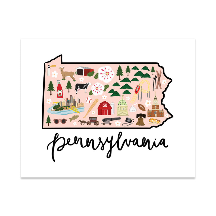 State Art Prints - Pennsylvania