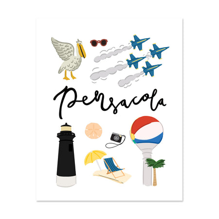 City Art Prints - Pensacola - Bloomwolf Studio About Things to Do in Pensacola, Neutral Colors, City Landmarks + Historical Places + Notable Places