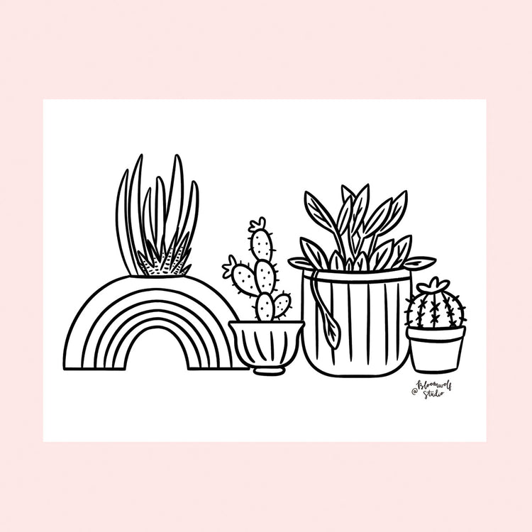 Plants Coloring Sheet