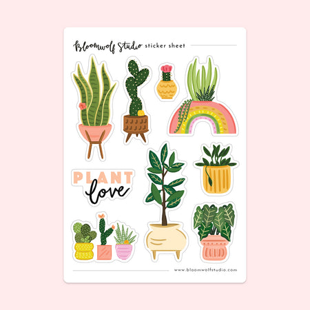 Plant Love Sticker Sheet