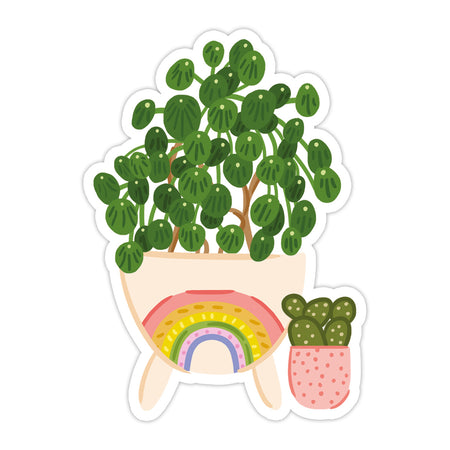 Rainbow Vase Plants Sticker