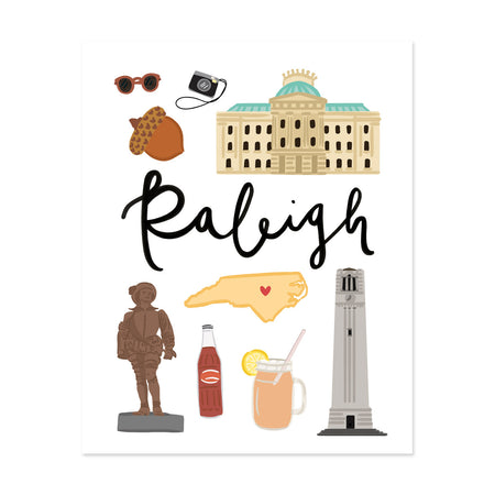 City Art Prints - Raleigh