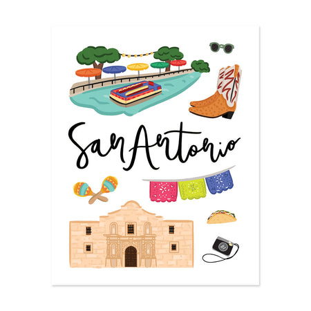 City Art Prints - San Antonio - Bloomwolf Studio Print About San Antonio, Neutral Colors, Things to Do, City Landmarks + Historical Places + Notable Places