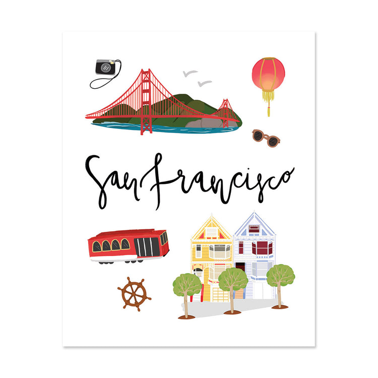 City Art Prints - San Francisco - Bloomwolf Studio Print  San Francisco, Warm Colors, Things to Do, State Landmarks + Historical Places + Notable Places