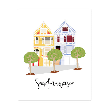City Art Prints - Painted Ladies