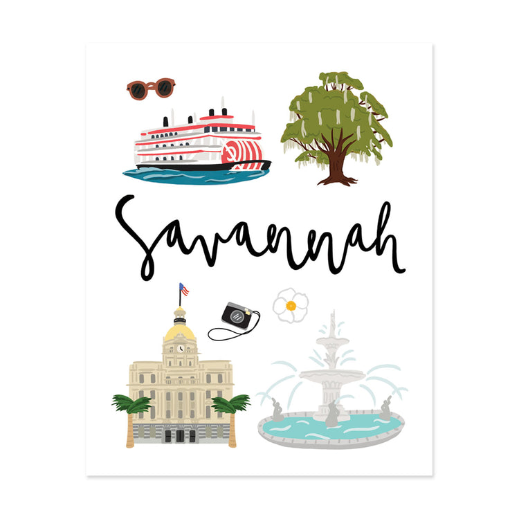 City Art Prints - Savannah - Bloomwolf Studio