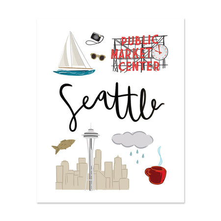 City Art Prints - Seattle