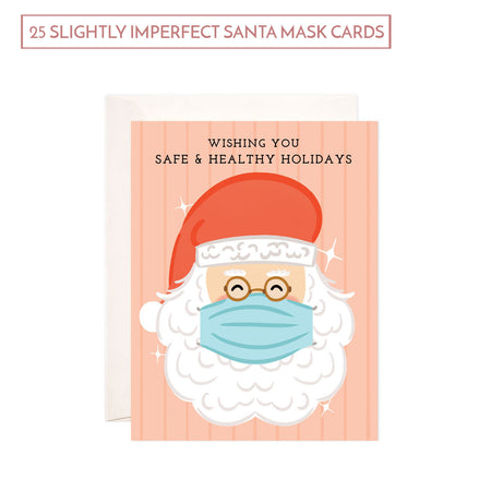 SALE: Bundle of 25 Slightly Imperfect Santa Mask Cards