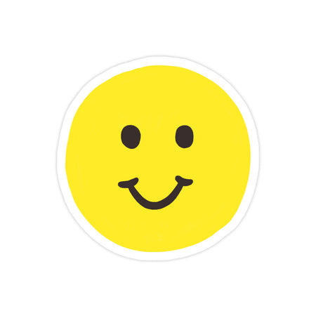 Smiley Sticker - Bloomwolf Studio Round Eyes, Big Smile, Yellow Smiley Emoji
