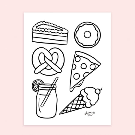 Snacks Coloring Sheet