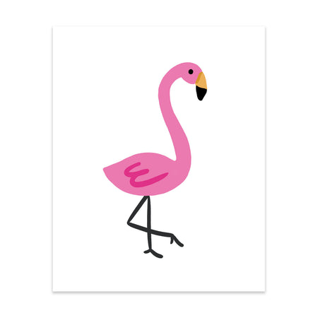 Solo Flamingo Art Print - Bloomwolf Studio Print of a Pink Solo Flamingo