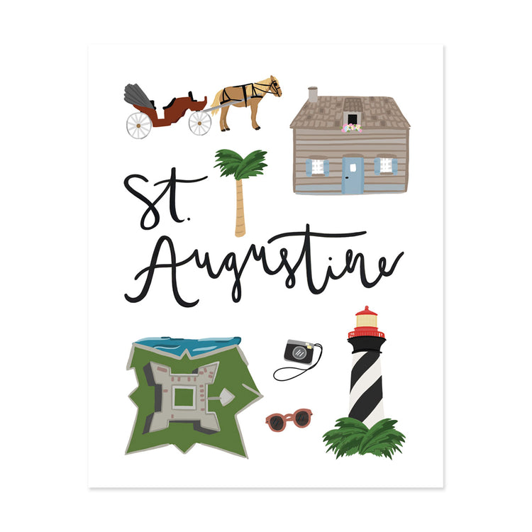 City Art Prints - St. Augustine - Bloomwolf Studio