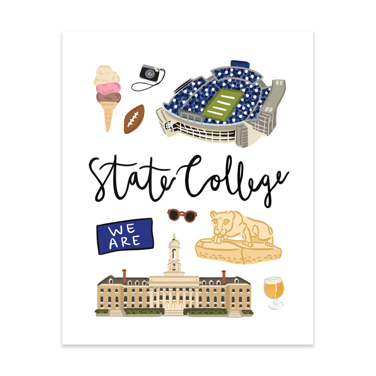 City Art Prints - State College - Bloomwolf Studio