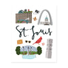 City Art Prints - St. Louis - Bloomwolf Studio Print About Things to Do in St. Louis, Neutral Colors, City Landmarks + Historical Places + Notable Places
