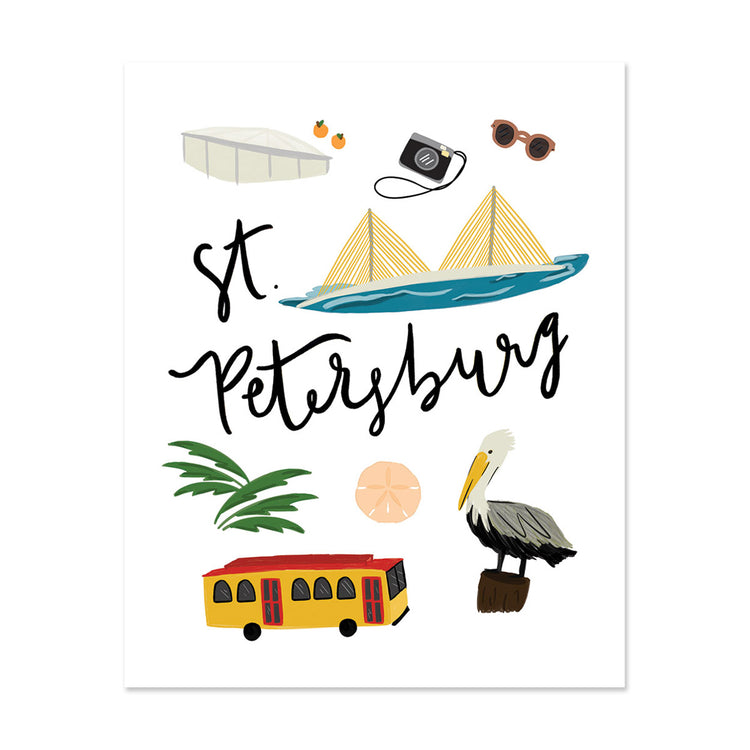City Art Prints - St. Petersburg - Bloomwolf Studio Print About St. Petersburg, Things to Do, Bright Colors, State Landmarks + Historical Places + Notable Places