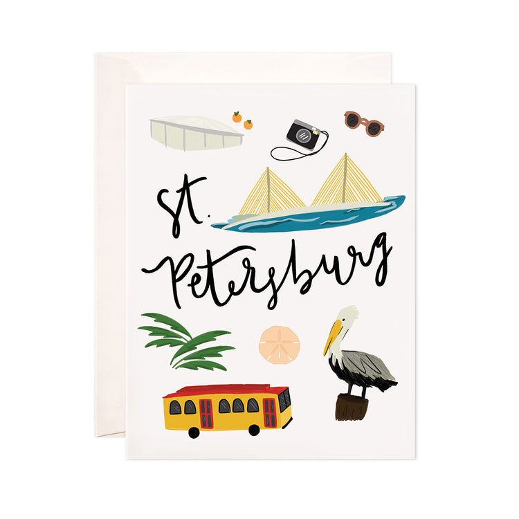 St. Petersburg - Bloomwolf Studio Card About St. Petersburg, Things to Do, Bright Colors, State Landmarks + Historical Places + Notable Places