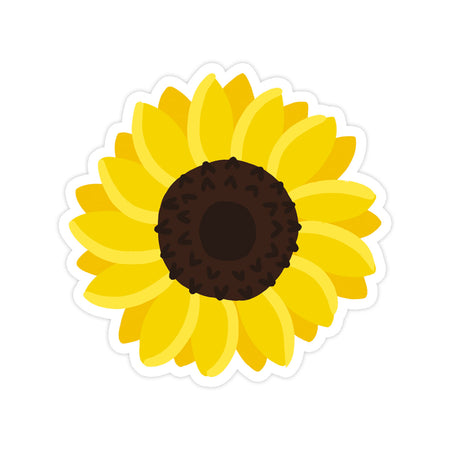 Sunflower Sticker - Bloomwolf Studio Sticker With 1 Big Yellow Sunflower Petals
