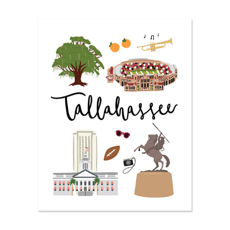 City Art Prints - Tallahassee