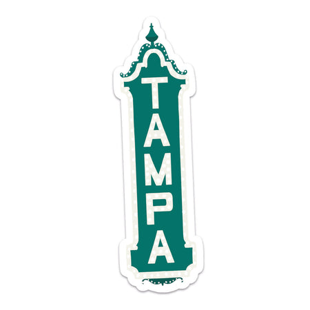 Tampa Sticker - Bloomwolf Studio Sticker of Tampa Theater, Dark Green Color, Florida