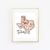 State Art Prints - Texas - Bloomwolf Studio
