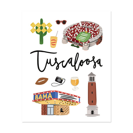 City Art Prints - Tuscaloosa