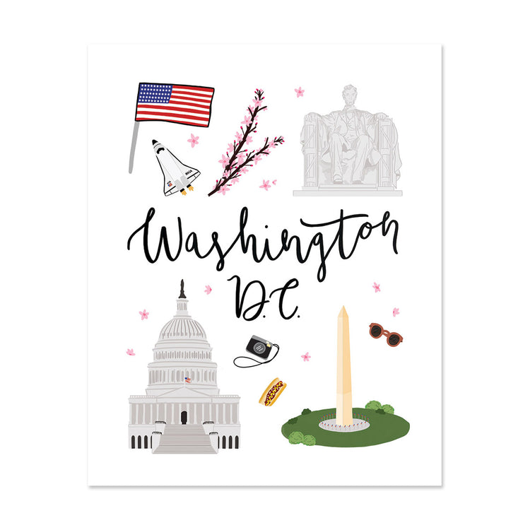 City Art Prints - Washington D.C.