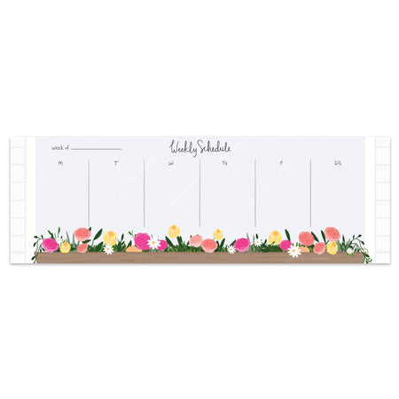 Window Flower Box Weekly Planner