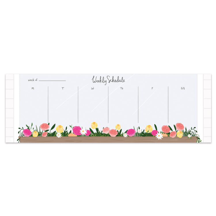Window Flower Box Weekly Planner - Bloomwolf Studio
