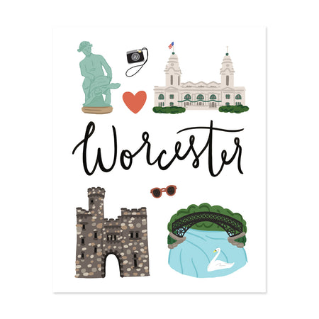 City Art Prints - Worcester