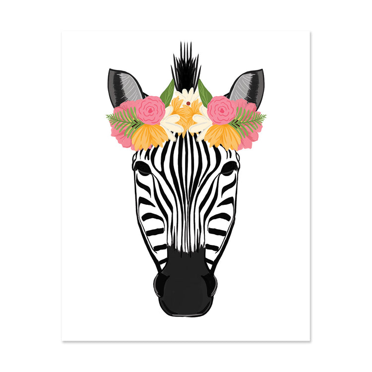 Pretty Zebra Art Print