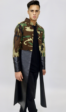 Load image into Gallery viewer, Camo + Black Military Jacket