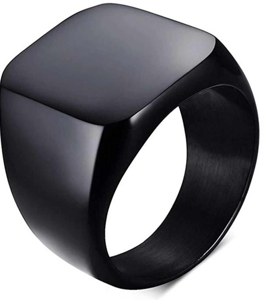 Black Polished Ring