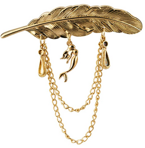 Feather Hanging Lapel Chain